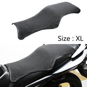 Motorcycle Cushion Seat Cover XL Size Cool Mesh Summer Comfort Anti-slip Black