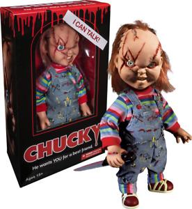 "Child's Play - Chucky 15"" bride of chucky scared Talking Action Figure Mezco"