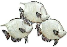 Dory Fish School metal w/ capiz finish sea life wall art