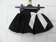 NEW HANDMADE GIRLS BLACK WHITE TUTU MINI SKIRT IRISH DANCE SCHOOL 6 - 8 YRS