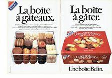 Publicité Advertising 057  1984  La boite à gateaux ( 2p) assortiment  Belin