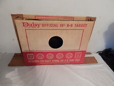 Vintage bb gun target Daisy 15 foot  Cardboard Box 1970's Rubber Backstop
