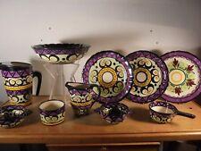 Céramique Vintage 60 Rare ensemble 10 P Saint-Jean de Bretagne DGL Quimper 2/3