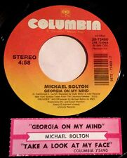 Michael Bolton 45 Georgia On My Mind / Take A Look At My Face