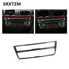 Real Carbon Fibre Air Conditioning CD Control Panel sticker Trim For BMW F30 F34