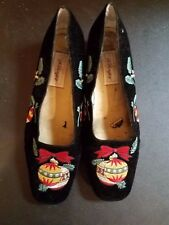Womens 9 Worthington Black Christmas Holday Shoes Slip On