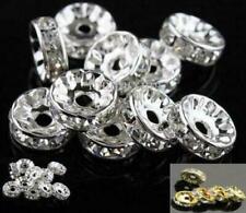20X Rhinestone Shamballa Beads Spacers Rondelle  Bracelet Necklace Watch