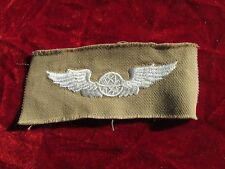 US ARMY Navigator Pilot wing Khaki Cloth Insignia Embroidered on twill unused