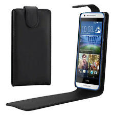 BLACK Leather Flip Case Cover with Card Slots for HTC DESIRE 820 UK FAST POST