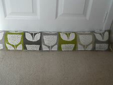 Draught Excluder Handmade Cotton Fabric Lime Green Grey Beige Cream Flower