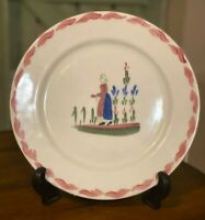 Vintage Blue Ridge China Pottery Dinner Plate French Peasant Girl Made In USA
