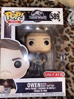 Funko Pop! 589 Jurassic World Owen with Baby Raptor Target Exclusive
