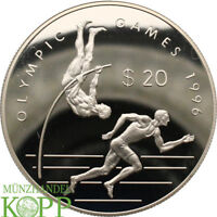 AA3776) Cook Inseln 20 Dollar 1993 Olympische Spiele SILBER