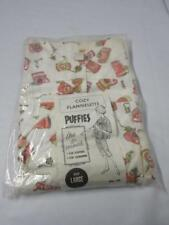 Vintage Womens Cozy Flannelette Puffies Sleep/Loungewear Short Sleeve Capri Sz L
