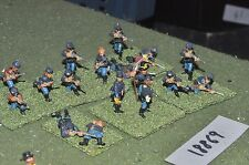 25mm ACW / union - american civil war cavalry dismounted 17 figs - cav (18869)