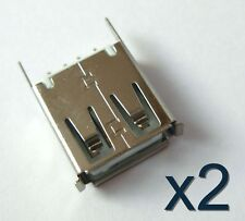 2x connecteur à souder USB type A femelle -2x Female USB type A solder connector