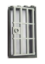 Lego Tür mit Rahmen Zarge dunkelgrau Kellertür Gefängnistür hellgrau Tür Neu