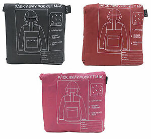 Childrens Shower Resistant Pac A Mac / Rain Coat / Kagool ~ 4-12 Years
