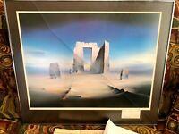 Robert Watson 1987 Stonehenge Winds Of Time Framed Rare Print Framed