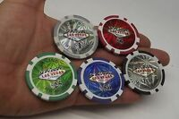 TOKENS LOT 5 USA LAS VEGAS CASINO POKER CHIP 1, 5, 25, 50 & 100 USD souvenir
