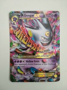 Pokemon Card Mega M Gengar EX - XY166 Ultra Rare Black Star Promo Mint