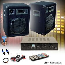 PA Party Musik Anlage Bluetooth USB MP3 Receiver Verstärker Fernbedienung Boxen