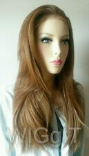 RIANNE | COPPER| SLEEK FASHION IDOL 101| SYNTHETIC STRAIGHT LONG LACE FRONT WIG