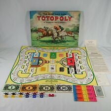 Vintage Totopoly Great Race Game Waddingtons 1949 Board Game  Complete