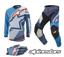Vestimenta Alpinestars color principal azul para motocross y enduro