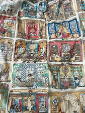 More details for toad hall osbourne & little vintage curtains rare fabric wind in the williows
