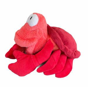 "SEBASTIAN the Crab 5"" disney stuffed bean bag LITTLE MERMAID toy by Just Play"