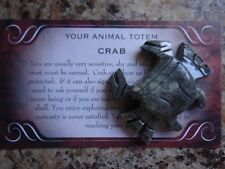 *CRAB* Cancer Carved Stone Figurine Totem (1) FREE Bonus LOOK Wiccan Pagan Gift