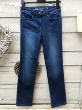 New Marks & Spencer Lift & Sculpt Blue Denim Straight Leg Jeans Size 6 Short