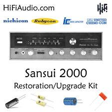Sansui 2000 receiver rebuild restoration capacitor kit repair instructions fix