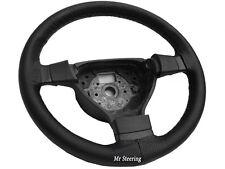 Pour bmw E36 90-00 noir cuir perforé steering wheel cover grey stitch