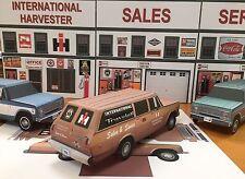 Papercraft International Harvester Travelall shop truck 1974 PaperCar  EZUmake