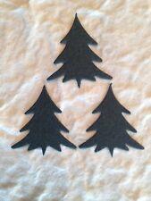 50 Trees tree fir Christmas Pine Tiny Green Diecut Cardstock scrapbook cards