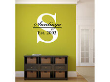 """Big Letter Last Name Family Monogram Wall Vinyl Decal Graphic 36"""" x 36"""" Home Dec"""