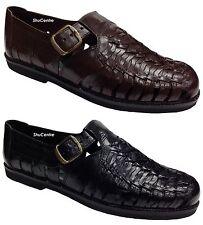 uomo tomaia e suola in pelle alla moda intrecciato tessute scarpe sandali sera