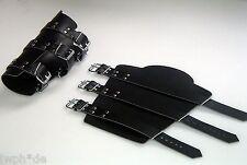 1 Paar  exklusive Leder Armschienen Armstulpen mit 3 Riemen Rüstung bester Sitz