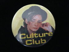 Culture Club-Boy George-Yellow-New Wave-Pin Badge Button-80's Vintage-Rare