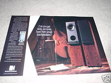 KEF Speaker Ad from 1993, 2 pages, high end! uni-Q 2