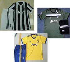 17 18 Juventus home soccer jersey away yellow football kits men thai quality set