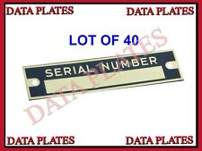 40X DODGE CHEVROLET PLYMOUTH DODGE GMC SERIAL NUMBER DATA PLATE ID TAG BRASS