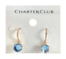 Charter Club Rose Gold‑Tone Blue stone Threader Earrings