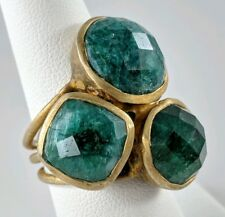 Soixante Neuf Ring Joie Jager Designed Faceted Green Gemstone Cocktail Runway