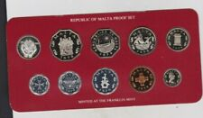 More details for boxed 1979 republic of malta decimal 10 coin proof set in mint condition.