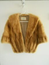 Vintage Fur Stole Cape Wrap with Satin Lining by POLSKY'S