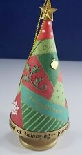 2007 Hallmark Quilt Embroidered Inspirational  Christmas Tree  Ornament