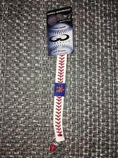 NEW YORK METS MLB GAMEWEAR BASEBALL SEAM BRACELET GENUINE BASEBALL LEATHER